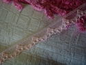 10Y Light Peach Scalloped Lace Trim 3/8 W