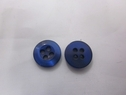 11 mm navy blue iridescent button with rim 4 hole button.