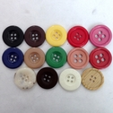 12 Button Acrylic Metal Black White Blue Green Marble Red Pink 4 Hole 23mm