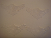 12 pieces white lace triangle applique #c11