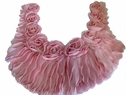 1Pc Ruffled Pink Floral Scalloped Applique