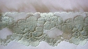 1Y Antique Pale Green Floral Scalloped Lace Trim 1 3/4 W L7-4