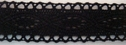 Black 100% Cotton Crochet Lace Trim 1 W