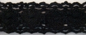 Black Cotton Crochet Lace Trim Doll Craft 7/8 W 500-M