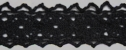 Black Crochet Trim 3/4 W