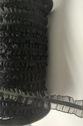 Black Double Ruffled Organza Elastic Trim 5/8 W