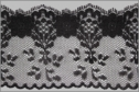 1Y Black Flower Design Lace Trim 2 1/2 W BoxL-7