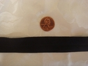 Black Fold Over Elastic FOE Trim 7/8 W