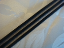 1Y Black Striped Mesh Elastic Trim 1/2 W