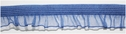 Blue Organza Elastic Ruffled Trim 5/8 W