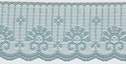 1Y Blue Scalloped Delicate Lace Trim 1 7/8 W L9-1