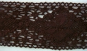 1Y Brown Floral Crochet Lace Trim 2 1/4 W