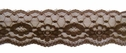 Brown Floral Scalloped Lace Trim 1 1/2 W L6-4