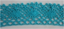 1Y Dark Turquoise Cotton Crochet Lace Trim 1 1/2 W