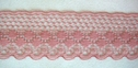 Dusty Rose Delicate Lace Trim 1 1/4 W L9-2