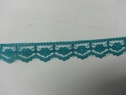 Aqua green Scalloped Lace narrow  Trim 1/2 W L1-3