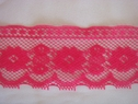 1Y Fuchsia Floral Embroidered Scalloped 3D Lace Trim 2 W