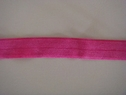 1Y Fuchsia Fold Over Elastic FOE Trim 5/8 W