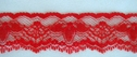 Hot Red Double Scalloped Lace Trim 1 1/8 W L 6-4
