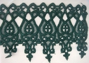 1y Hunter Green Venise Lace Trim