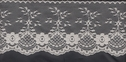 1Y Ivory Scalloped Floral Lace Non Stretch Trim 4 WL7-6