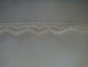 1Y Ivory Scalloped Lace Trim 1/2 W