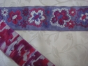 Jacquard ribbon lilac purple fuchsia floral trim