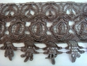 1y Light Brown Venice Venise Lace Trim 3 3/4 inch wide
