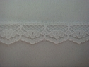 1Y Narrow White Black Floral Scalloped Lace Trim 1/2 W L2-9