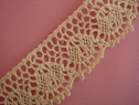 1Y Natural Crochet Clunny Lace Trim 7/8 W