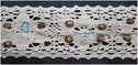 1Y Natural Crochet Hand Beaded Lace Trim 2 W