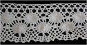 1Y Natural Crochet Scalloped Lace Trim  2 1/2 W