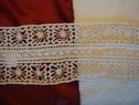 1Y Natural Delicate Floral Cotton Lace Trim 2 3/4 W