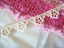1y natural floral Venise Venice lace trim 5/8 inch wide