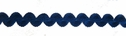 Navy Elastic Rick Rack Trim 3/8 W