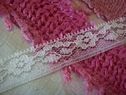1Y White Scalloped Edge Lace Trim 1/2 W L1-6