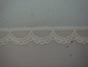 1Y Ivory vintage Scalloped narrow edge Lace Trim 1/2 W