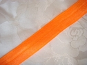 1Y Orange Neon Fold Over Elastic FOE Trim 5/8 W
