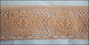 Peach  poly scalloped Lace Trim 2 W L 9-3