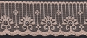 1Y Peach Scalloped Lace Trim 1 7/8 W  L9-1