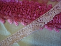 Pink Cotton Crochet Trim 9/16 W