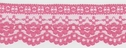 1Y Pink Floral Scalloped Lace Trim 2 W