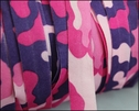 1Y Pink & Purple Camouflage Fold Over Elastic Trim 5/8W