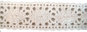 1Y Pure-White Cotton Crochet Lace Trim 1 W