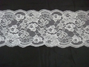 1Y Pure White Double Scalloped Floral Lace Trim.5  L-8-Box