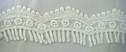 1y Pure White Venice Venise Scalloped Lace Fringe 2 1/4 inch