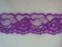 1Y Purple Floral Double Scalloped Lace Trim 1 1/4 W L1-1