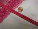 1Y Shiny Rose Lip Cord Elastic Trim 3/8 W