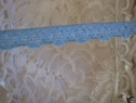 1Y Sky Blue Stretch Scalloped Lace Trim 3/8 W