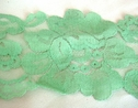1Y Spring Green Floral Scalloped Lace Trim 3 1/2 W L8-2